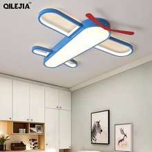 Modern LED Child Ceiling Lights For Girls Room Boy Bedroom Blue Airplane Light Shade  Lighting Lampadario Lustres Fixture