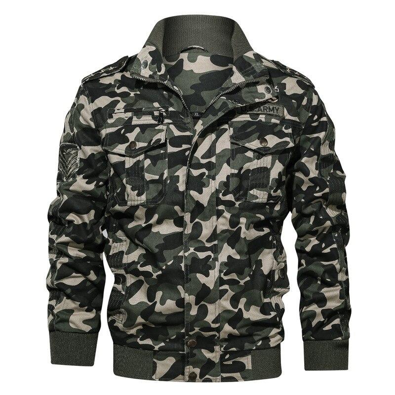Otoño Invierno chaqueta táctica militar camuflaje cargamento de ropa Multi-Bolsillo de vuelo Aymy hombres Chaqueta de algodón Cazadora Bomber