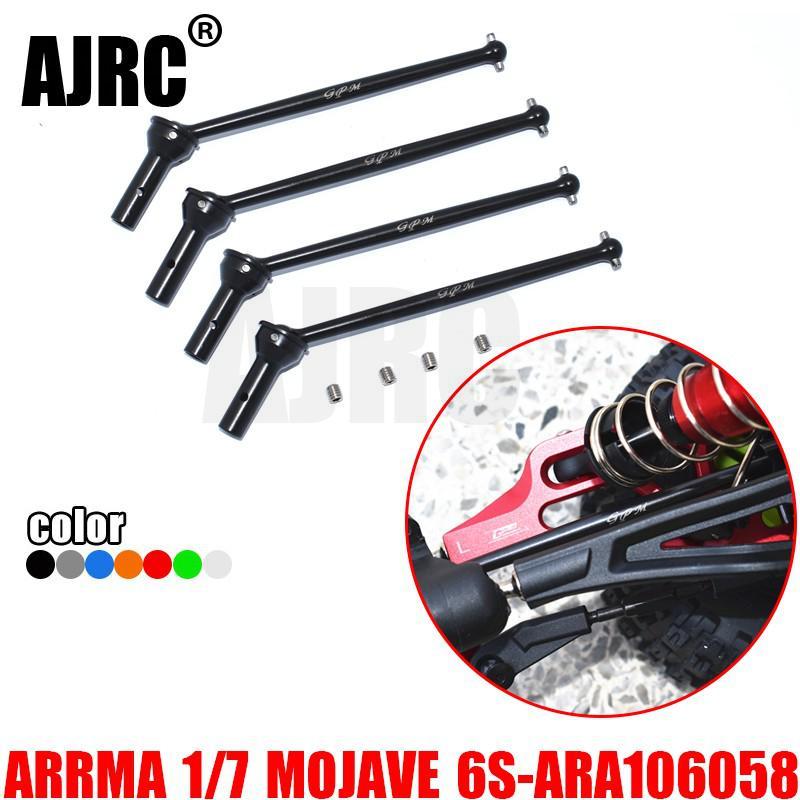 ARRMA-1/7 4wd mojave 6s ara106058t1/t2 #45 aço temperado dianteiro e traseiro cvd juntas universais ara310954 + ar310451 + ar31043 + 310953