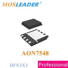 Mosleader AON7548 DFN3X3 100 Uds 500 Uds 1000 Uds 30V 24A N-Canal chino Mosfets de alta calidad
