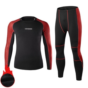 Winter Thermal Underwear Men Warm Fitness Fleece Legging Tight Undershirts Compression Quick Drying Male Thermo Long Johns