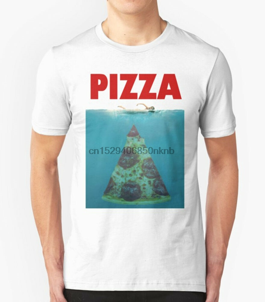 PIZZA JAWS T SHIRT FUNNY SLOGAN JOKE FOOD PUN PREMIUM QUALITY