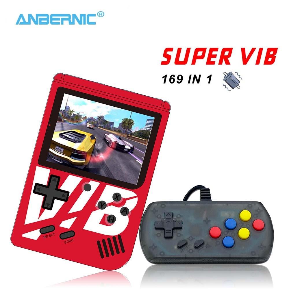 ANBERNIC - Super VIB Handheld Game Console 169 Games Video Game TV Output Mini Portable 8 Bit Retro Game Consola Gift Gamepad