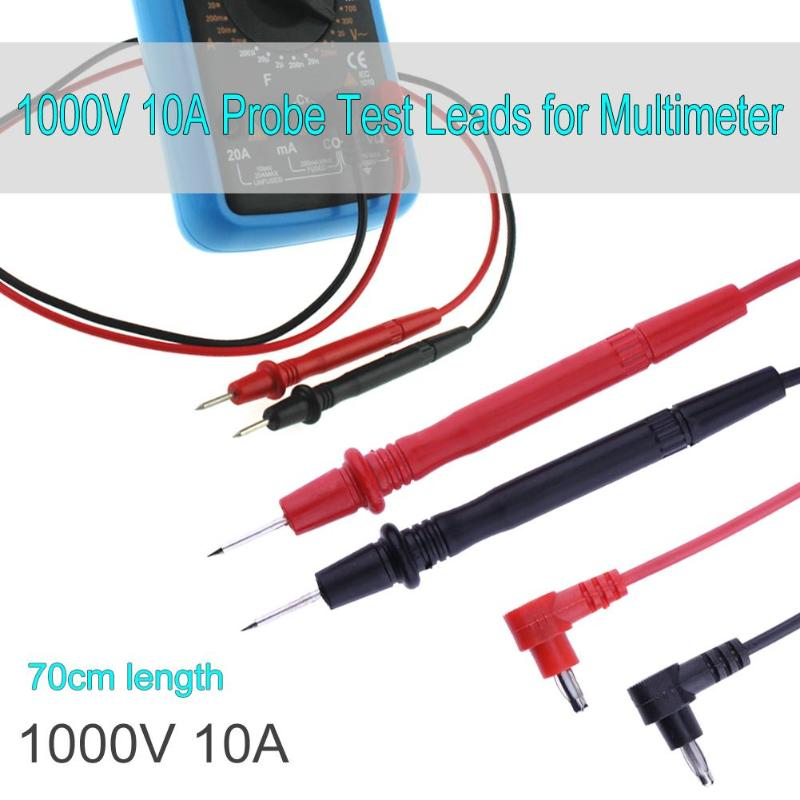 Cables universales de prueba multímetro de 70cm para Cable de multímetro Digital ANENG 10 a 1000V