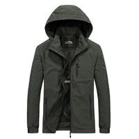 Куртка мужская водонепроницаемая, ветровка с капюшоном, стиль милитари, водонепроницаемая, повседневное пальто, осень 2021