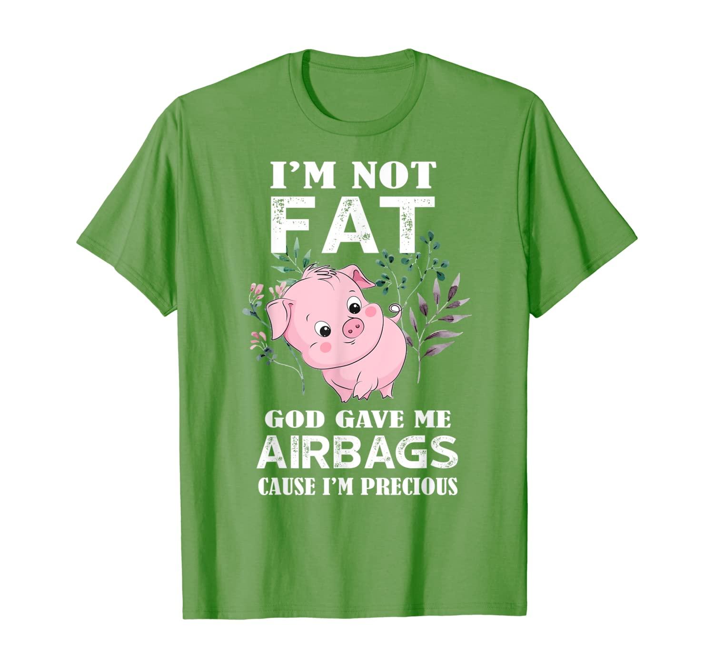 Забавная футболка I'm Not Fat God дал мне подушки безопасности
