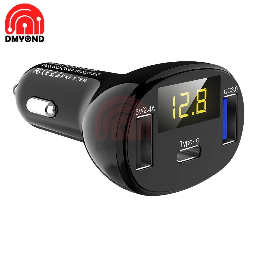 QC3.0 QC Тип C PD DC 12 В USB тип мульти вольтметр монитор двойной USB цифровой вольтметр дисплей для автомобиля Быстрая зарядка
