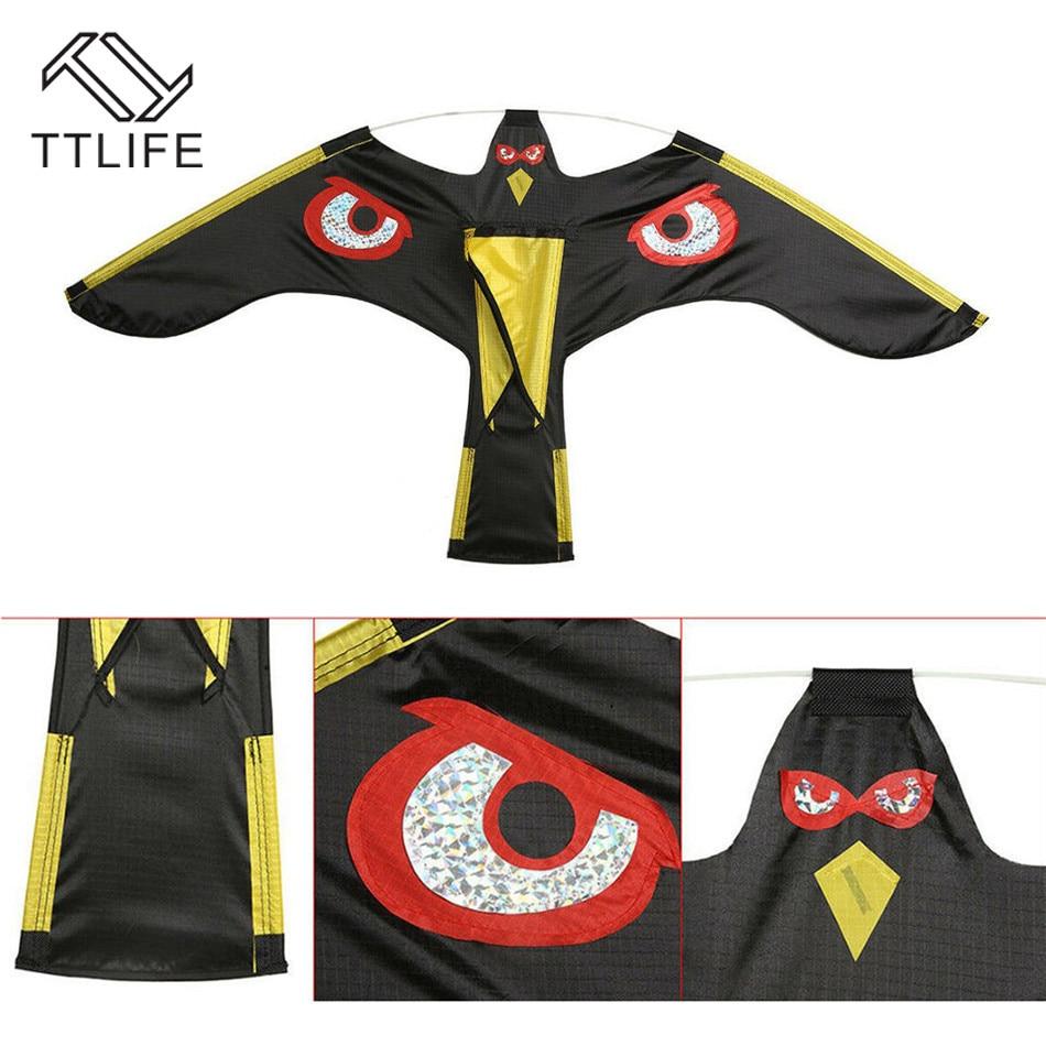 Nueva emulación TTLIFE con halcón volando espantapájaros Drive Bird Kite para jardín espantapájaros herramientas para el hogar