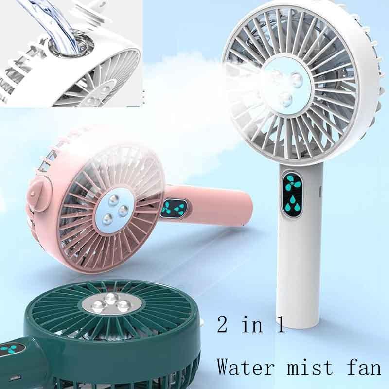 Mini ventilador portátil de mano con PULVERIZADOR DE AGUA, batería eléctrica USB recargable, ventilador de mano, ventilador de vapor de agua, Enfriador de aire, Mini ventilador, vaporizador facial