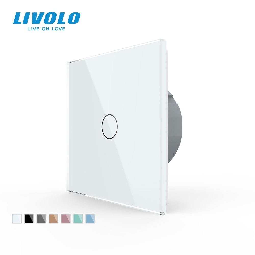 AliExpress - Livolo luxury Wall Touch Sensor Switch,EU Standard Light Switch,Crystal Glass switch power,1Gang 1Way Switch,220-250,C701-1/2/5