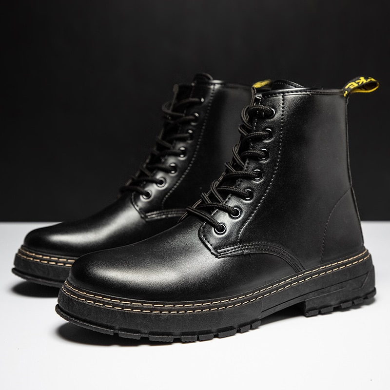 autumn winter men s chelsea boots british style fashion ankle boots black brown grey brogues soft leather casual shoes business Classic Men's Shoes Boots British Style Casual Martin Men Black Boots New Leather Men Ankle Boots Fashion Punk Motorcycle Shoes