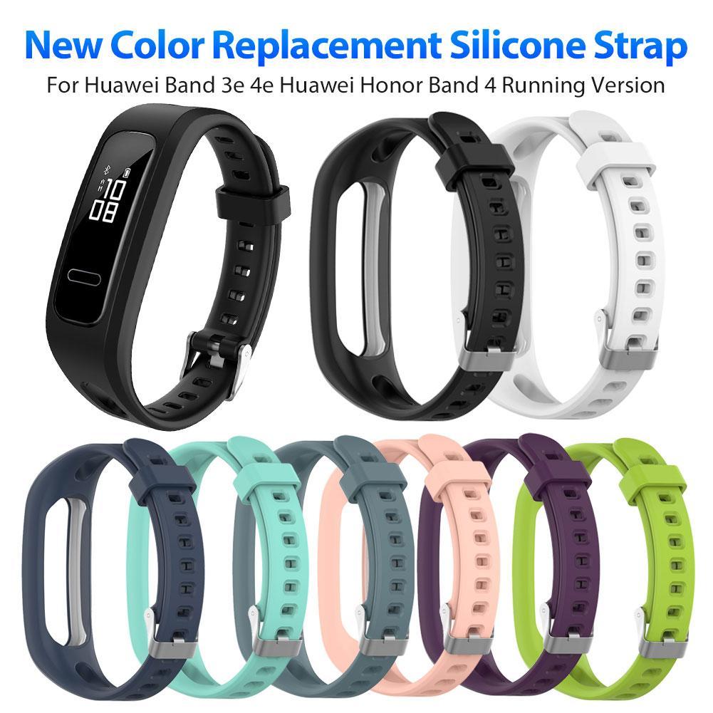 Силиконовый ремешок для часов рондафул, браслет для смарт-часов Huawei 3e 4e, Huawei Honor Band 4, версия для бега