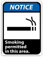 1595 warning signnotice smoking permitted in this areatin aluminum metal decor painting traffic warning sign 8x12 inch