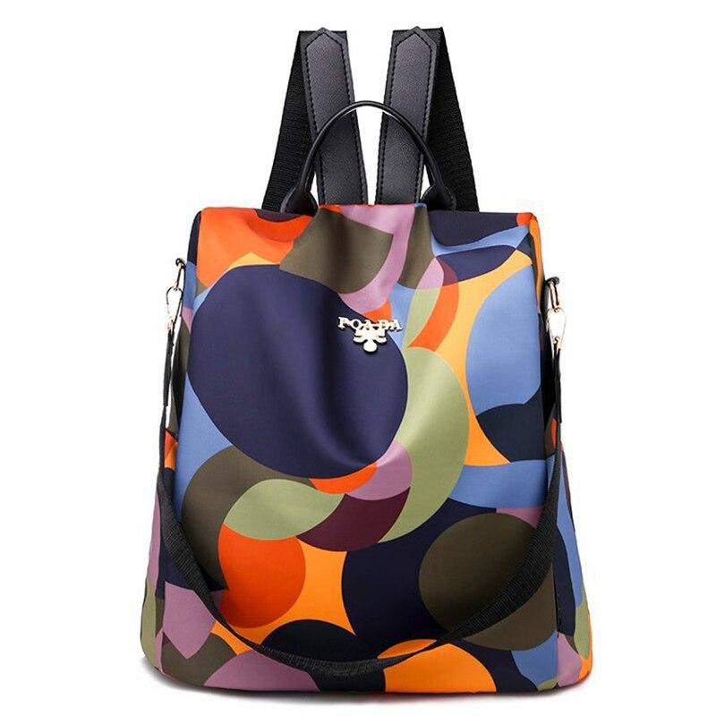 2020 New Korean Double Shoulder Women 's Bag Versatile College Students Schoolbag Contrast Color Ant