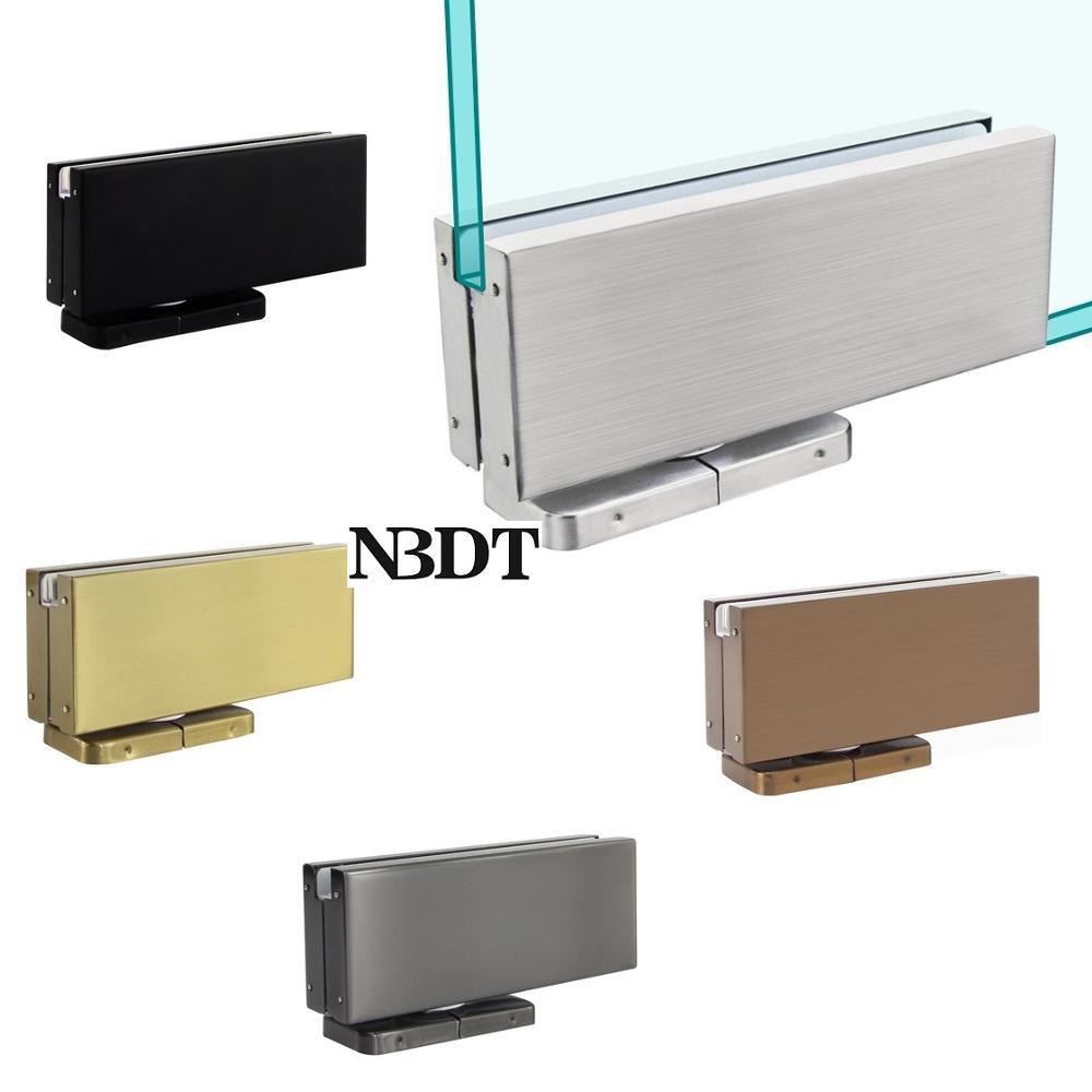 مشبك تثبيت للأبواب الزجاجية ، مفصلية محورية ، غير لامع ، أسود ، وردي ، ذهبي ، تيتانيوم