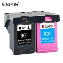 GraceMate Remplacement pour HP 901 XL Cartouches Dencre Officejet J4500 4500 J4540 J4550 J4600 J4640 J4660 J4680 J4680c J4580 Imprimante