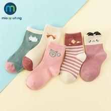 Miaoyoutong-chaussettes Jacquard motif chat licorne lapin   Chaussettes confortables et chaudes, en coton, de bonne qualité, pour enfants garçons et nouveau-nés