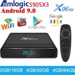 X96 S905X3 Ar Android 9.0 CAIXA de TV Inteligente Amlogic Media Player 4GB GB 64 32GB Apoio 4K WIFI Set Top Box 2 H.265 G 16G