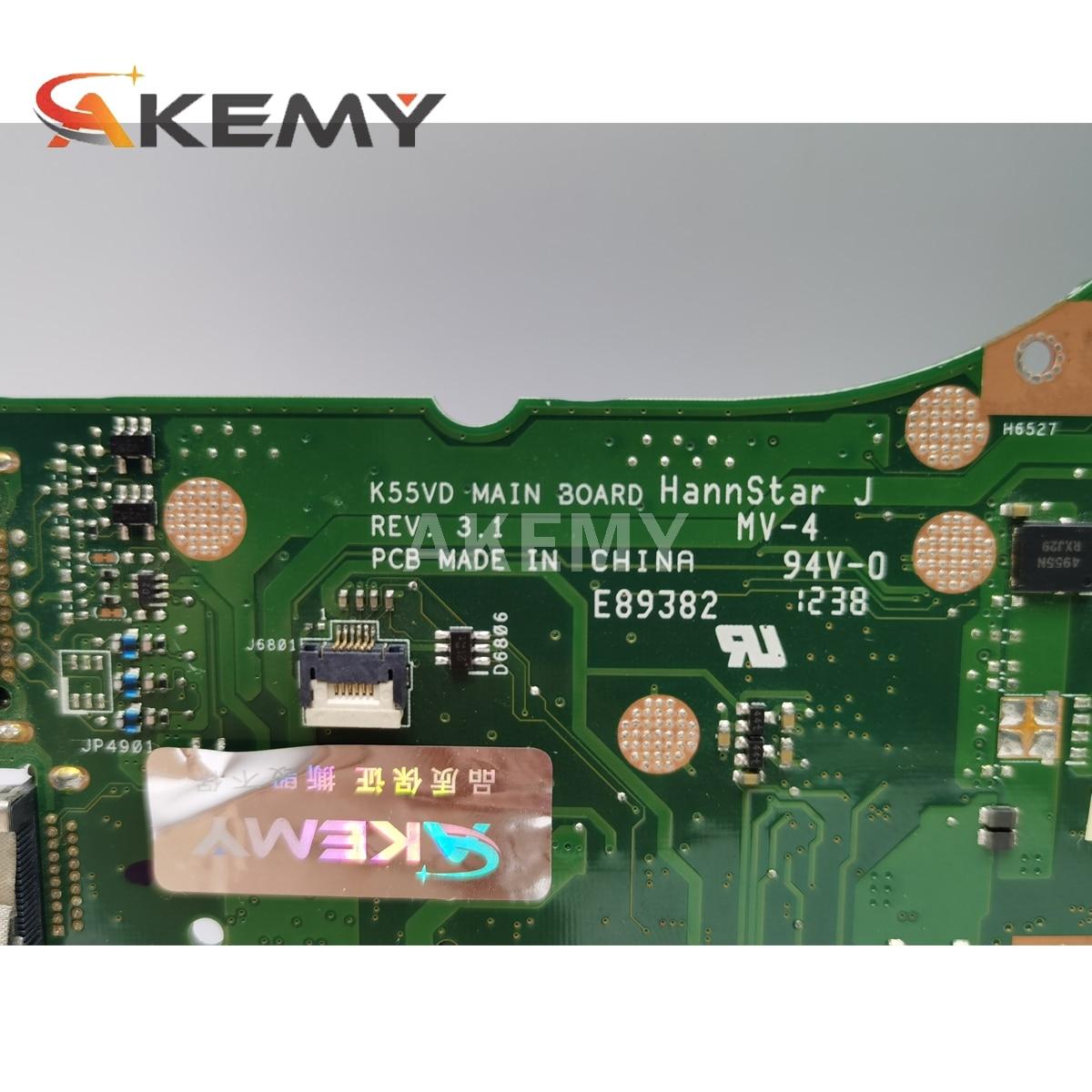 K55VD Motherboard Rev 3.1 GeForce 610M DDR3 For Asus K55VD A55VD F55VD Laptop motherboard K55VD Mainboard K55VD Motherboard
