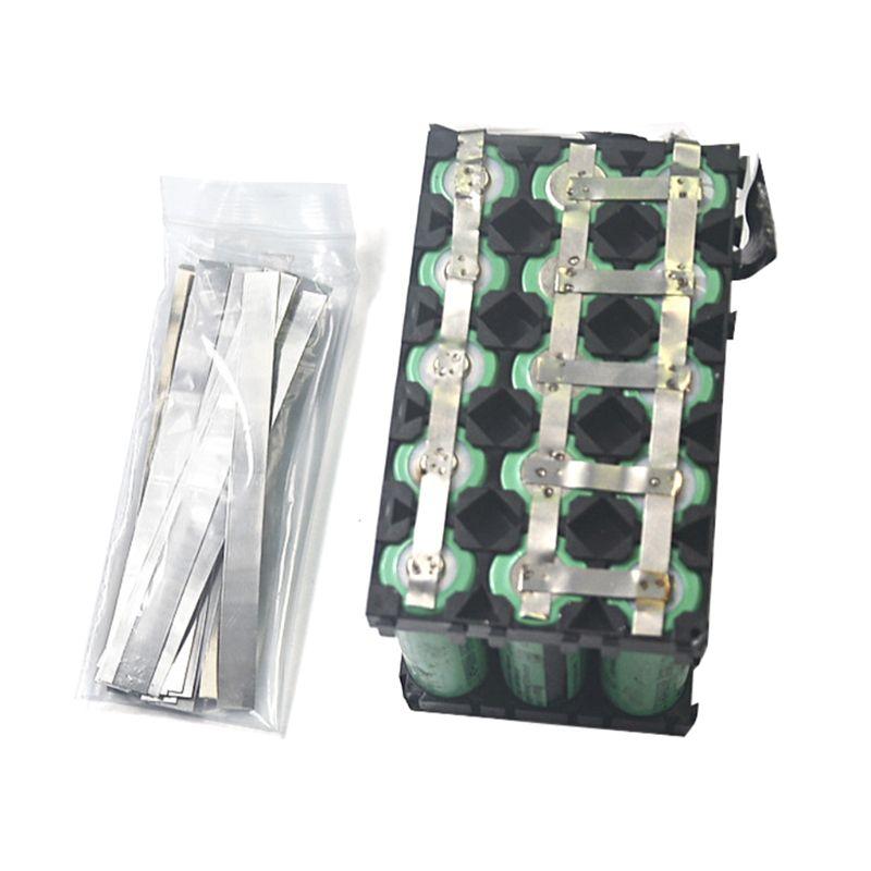 1 saco de aço niquelado tira tiras de níquel folhas para 18650 li-po bateria de lítio solda guia ponto máquina de solda soldador