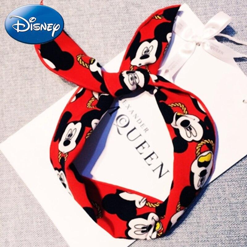 Disney Mom Baby уши Микки детские повязки-обруч для волос растягивающийся узел банты для волос хлопок детские повязки для волос Детские волосы-Аксессуары