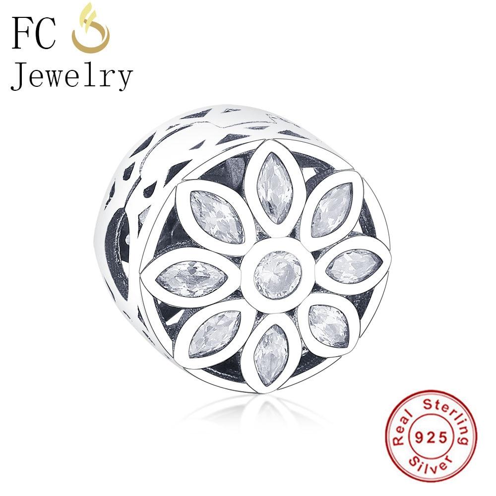 Оригинальный браслет Pandora из стерлингового серебра 925 пробы с цирконием в виде