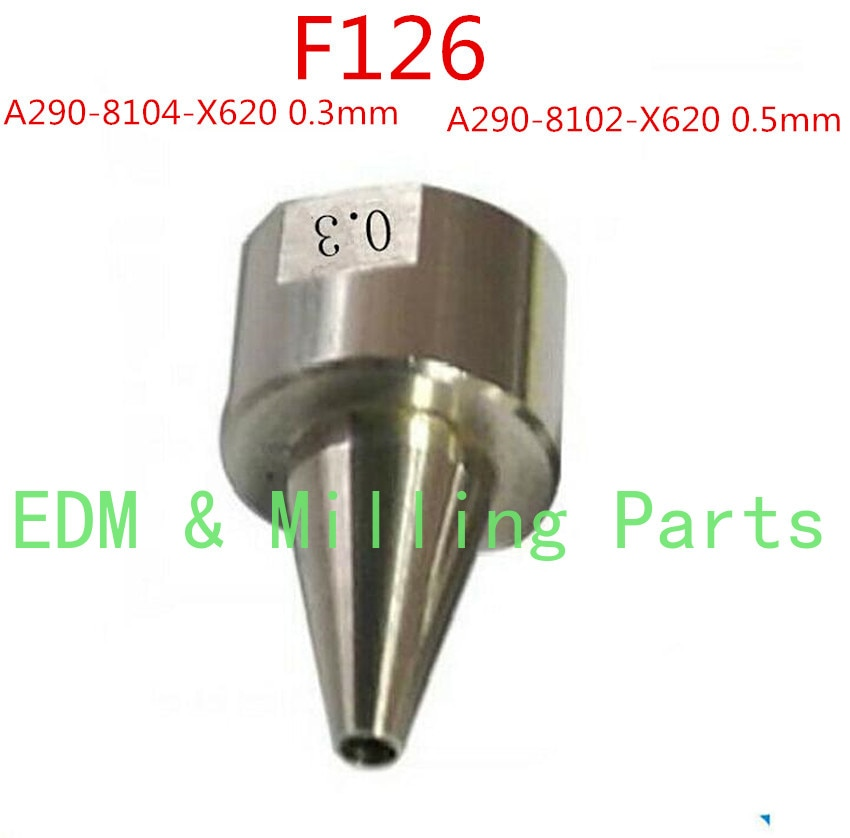 سلك EDM سباركس F126 الموضوع مساعدة الفرعية يموت أدلة A290-8104-X620 A290-8102-X620 0.3 مللي متر 0.5 مللي متر ل نك Fanuc آلة خدمة