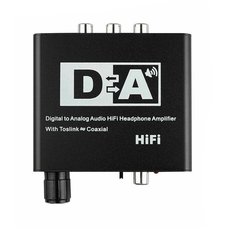 Convertidor analógico Digital 192KHz Toslink óptico Digital Coaxial a analógico RCA 3,5mm Audio Hifi convertidor con Spdif