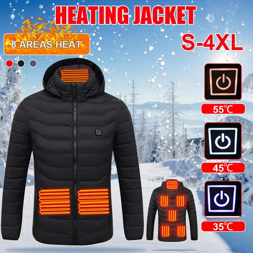 Unisex Heated Jackets Heat Coat USB Electric Thermal Clothing coat Infrared Heating...