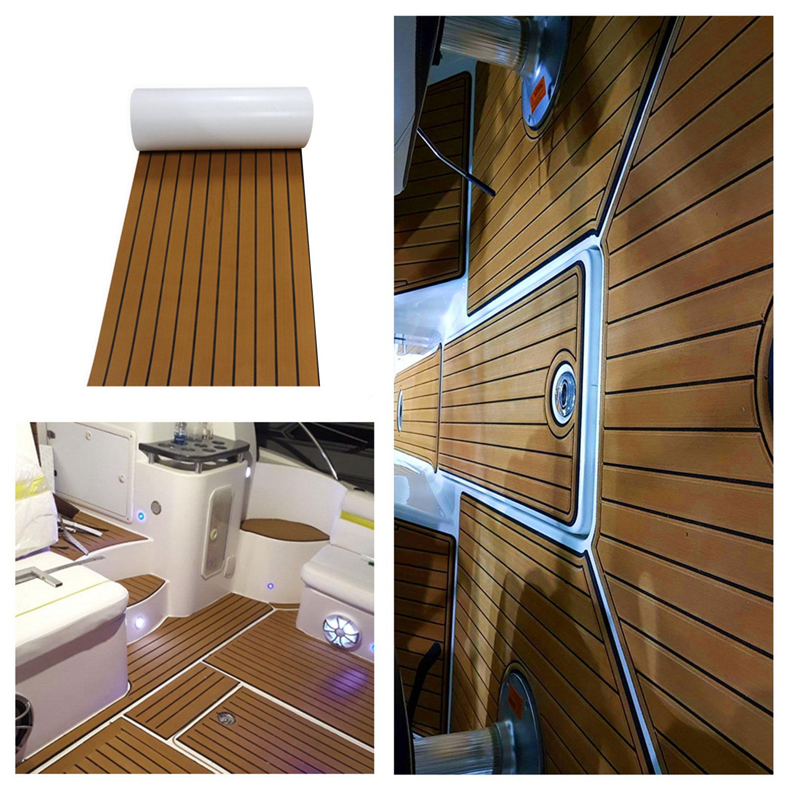 Self Adhesive EVA Boat Yacht Floor Decking Carpet Sheet Pads Foam Flooring Pad Mat For RVs Motorhome Caravan 4500mmx24000mmx6mm