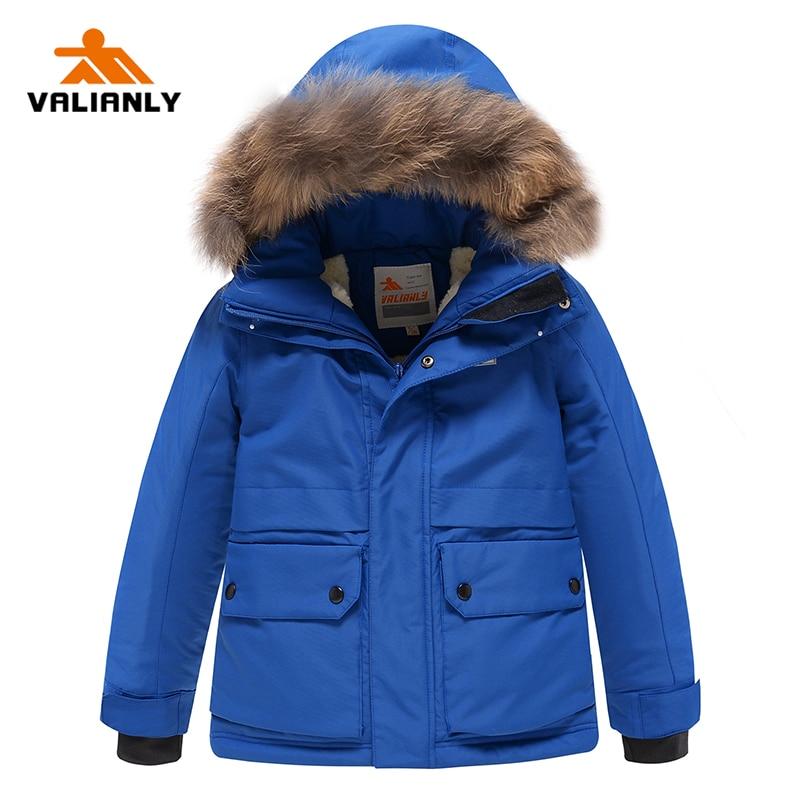 VALIANLY 2021 New Boys Winter Coat Parka Kids Cotton Padded Coat Jacket Winter Coat For Kids Thick W