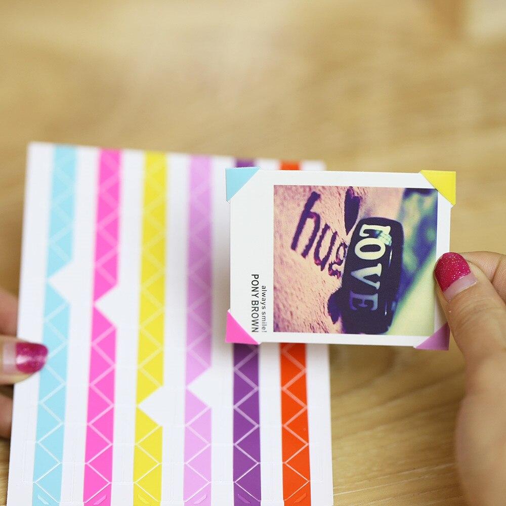 10 hojas de adhesivos para esquinas de fotos de alta calidad en accesorios de álbum DIY adhesivos para esquinas de fotos adhesivo de papelería decorativo