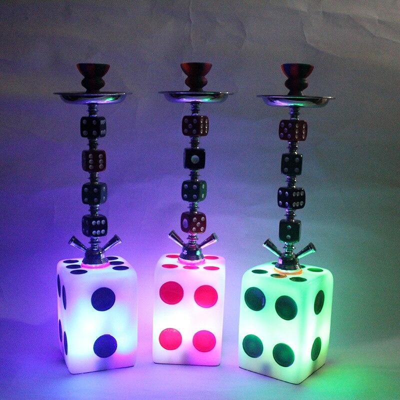 Criatividade com luz led árabe alumínio hookah