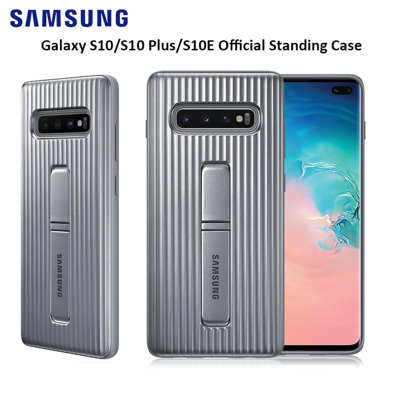 Funda de pie Samsung Galaxy para S10 +, funda protectora completa a prueba de golpes para Samsung Galaxy S10/s10 Plus con Logo