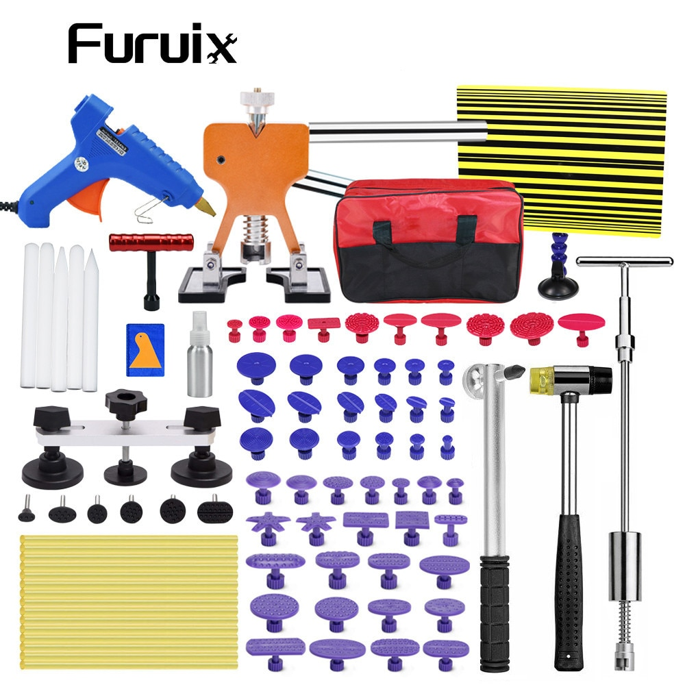 FURUIX  Tools Dent Lifter Puller Paintless Hail Removal Repair Tap Down Ding Hammer