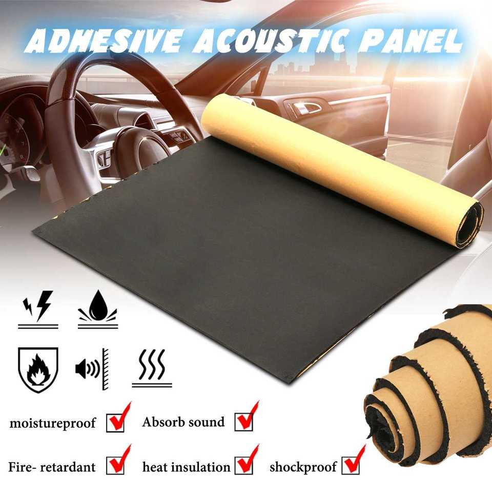 1roll 50x100cm 5mm Car Sound Heat Insulation Cotton Sound Proofing Deadening Insulation Foam Mat Acoustic Panel Self Adhesive Sound Heat Insulation Cotton Aliexpress