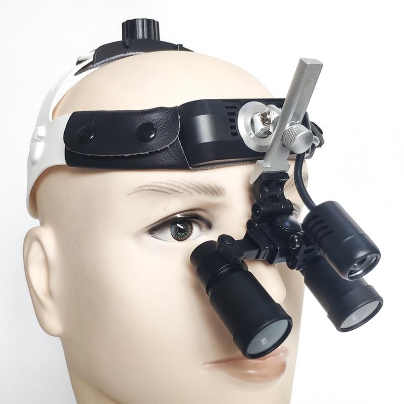 عقال بريزم 4.0X الأسنان Loupes كيبلر مجهر المكبر الجراحية العدسة ENT العيون مع LED المصباح (FDJ-H-4.0X)