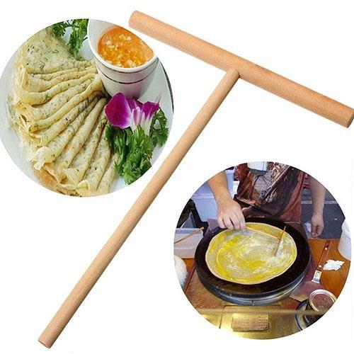 Crepe Maker tortitas distribuidor de madera palo casa cocina herramienta Kit de bricolaje