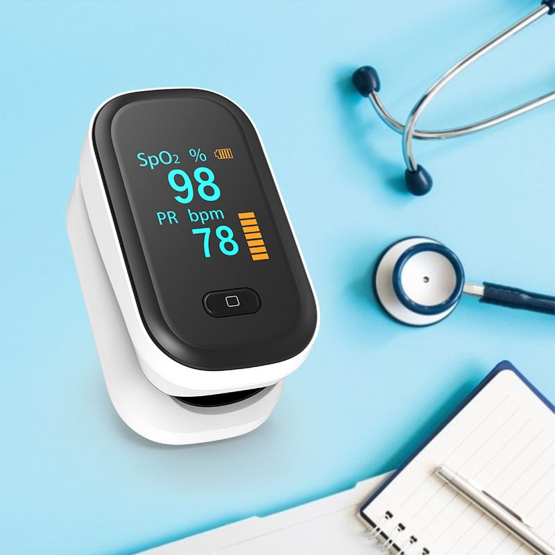 OLED Fingertip pulse oximeter SpO2 PR Oxymeter Heart Rate meter Blood oxygen Saturation monitor Household health Care Monitors