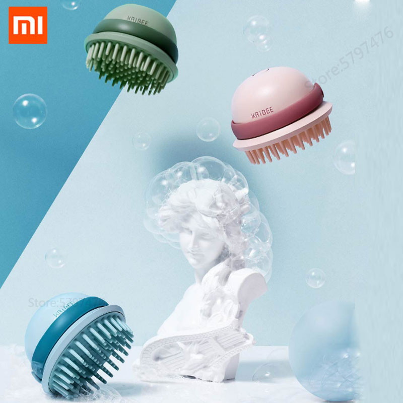 Peine eléctrico Xiaomi mijia para el pelo, artefacto esponjoso, vibración para quitar la grasa, nivel de Spa, masajeador de cuero cabelludo, Cable Usb
