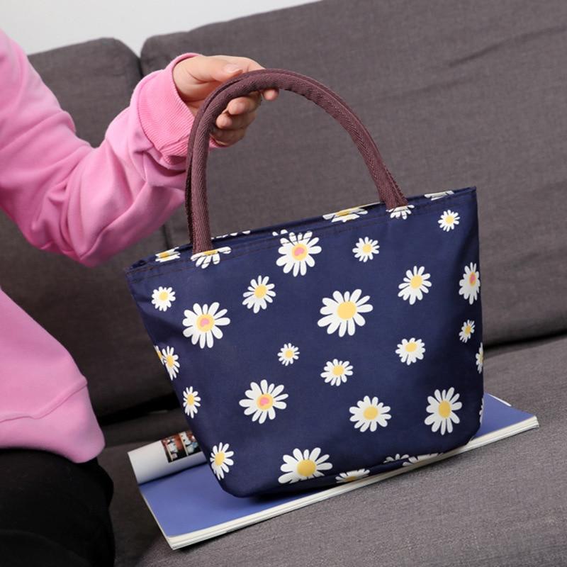 ¡Novedad de 2020! Bolsos de lona estampados de alta calidad para mujer, bolsos de mano de lona estampados, bolsa Simple para almuerzo de Momen