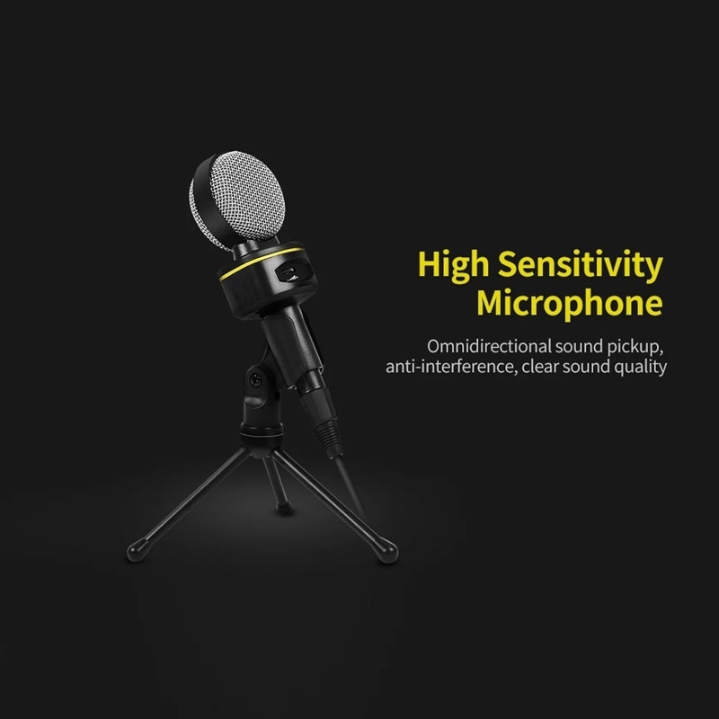 Micrófono de conferencia por ordenador omnidireccional micrófono de escritorio capacitivo para reunión en vivo Chat de voz