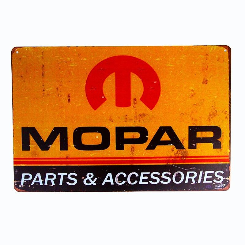 Decoración Vintage para el hogar estaño signo Mopar piezas de Metal decoración de pared arte garaje Auto tienda cueva