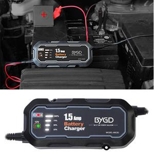 55% Hot Sales!!! 6853D Battery Charger Automatic Multifunctional Fireproof ABS Heat Resistant Trickle Charger for Cars