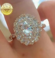solid au750 18k gold rings 2 3 4 5 carat d color vvs oval cut wedding rings