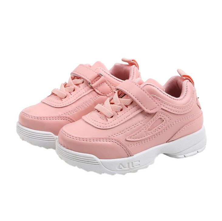 Autumn Boys Girls Fashion Sneakers Baby/Toddler/Little Kids Leather Trainers Children School Sport S