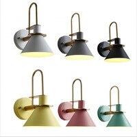 Modern Nordic Simple LED Wall Lamp 90V-260V E27 Indoor Bedroom Bathroom Balcony Bar Staircase Aisle Lamp Light Fixtures