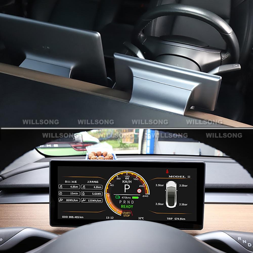 OEM Style Instrument Panel Dashboard HUD Heads Up Display Gauge Cluster For Tesla Model 3 Performance Digital LCD Best