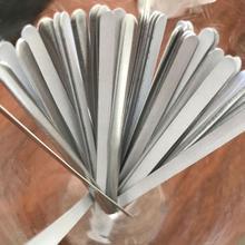 100 pièces nouveau 85mm métal bande bricolage aluminium nez pont accessoires extérieurs nez Cip masque pont A3U4