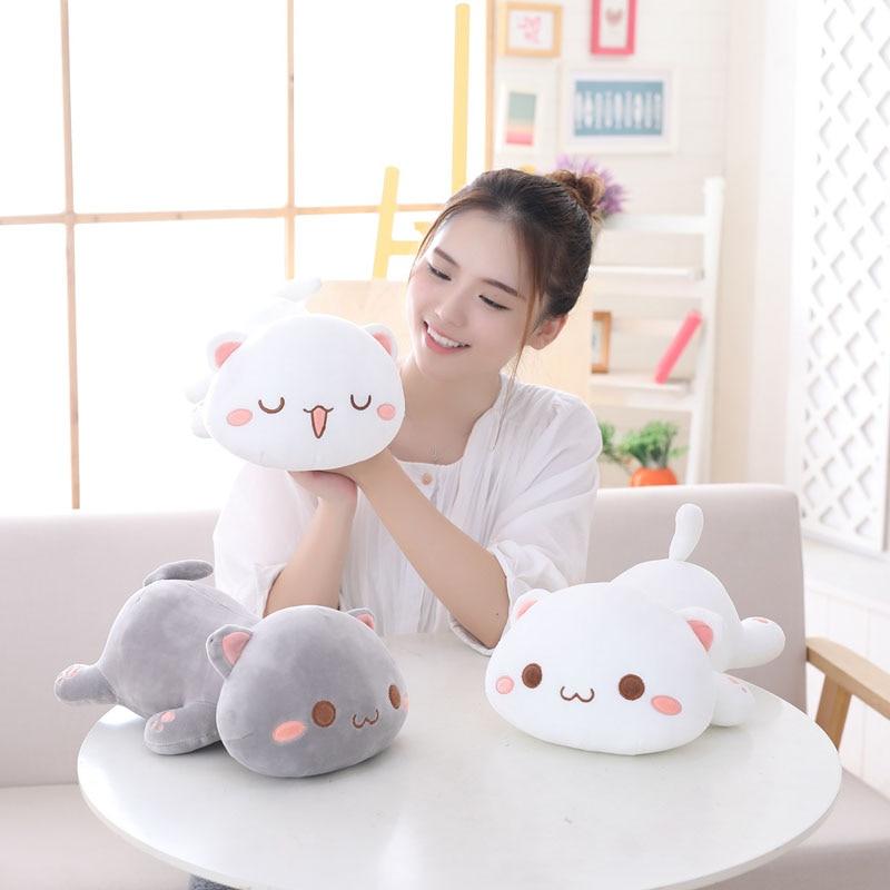 Lucky Boy Sunday Kawaii Lying Cat Plush Toy Soft Cute Cat Plush Pillow Chshion Kids Children Plush Toys Birthday Christmas Gift